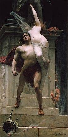 Áyax y Casandra por Solomon Joseph Solomon, 1886.