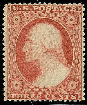 US Postage stamp: Washington, 1851 Issue, 3c