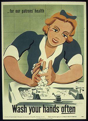 """WASH YOUR HANDS OFTEN"" - NARA - 516049"