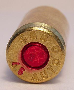 45 ACP pistol cartrdige. FMJ bullet. Manufactu...