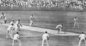 Australian cricket batsman Bill Woodfull faces...