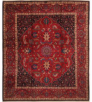 English: Antique Persian Mashad rug measuring ...