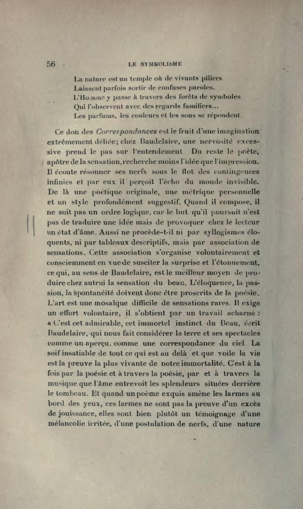 La Nature Est Un Temple Où De Vivants Piliers : nature, temple, vivants, piliers, Page:Barre, Symbolisme,, 1911.djvu/72, Wikisource