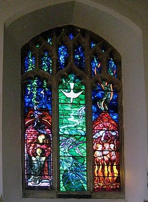 English: Benjamin Britten memorial window ... ...