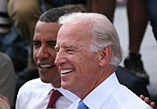 Obama and Biden after the announcement on August 23rd