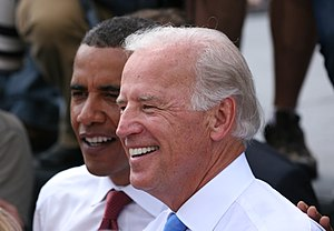 Deutsch: Joe Biden und Barack Obama in Springf...
