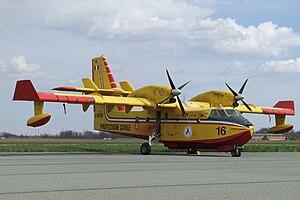 """English: Canadair I-DPCW -- 16 - Italian """"..."""