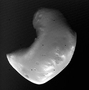 Viking 2 image of Deimos, October 5, 1977