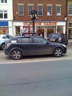 Google Street View Car in Northallerton, England.