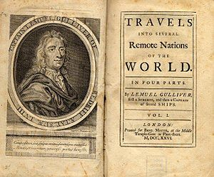 First edition of Gulliver's Travels by Jonatha...