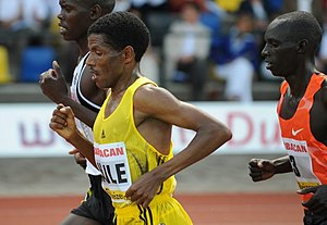 English: Haile Gebrselassie at the FBK Games 2...