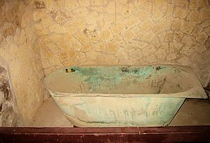 Bathtub in a house in ancient Herculaneum