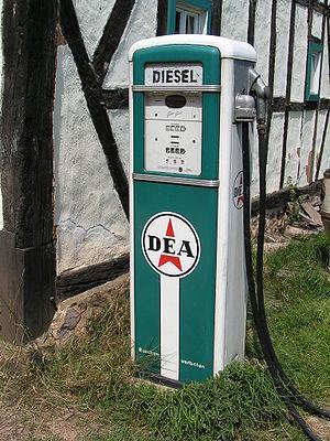 Antique diesel pump located at Roscheider Hof,...