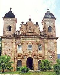 Igreja de São Pedro dos Clérigos em Mariana, primeira cidade de Minas Gerais.