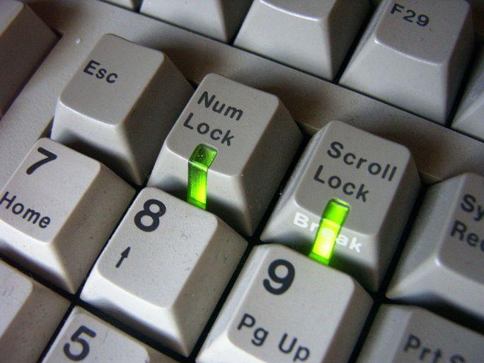 Keyboard keys with light