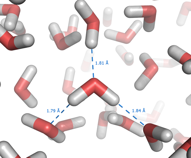 Hydrogen bonds in liquid water molecular dynam...