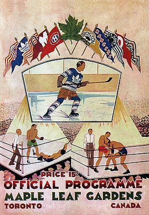 Toronto Maple Leafs opening night program at M...