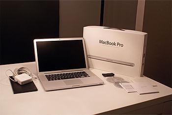 """Deutsch: Apple MacBook Pro 15""""-Modell mit..."""