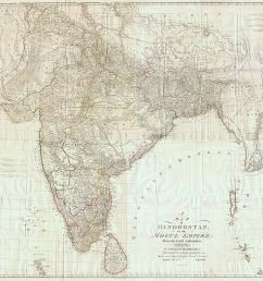 map of british india by james rennell 1788  [ 1199 x 1024 Pixel ]