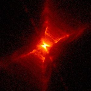 English: The Red Rectangle Nebula. An excellen...