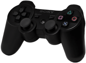 English: An original PlayStation 3 (PS3) contr...