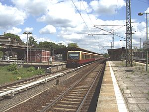 Platforms of train station Berlin-Wannsee