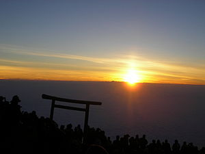 Sun Rise on the Mt. Fuji