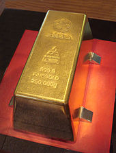 Largest Gold Bar : largest, Wikipedia