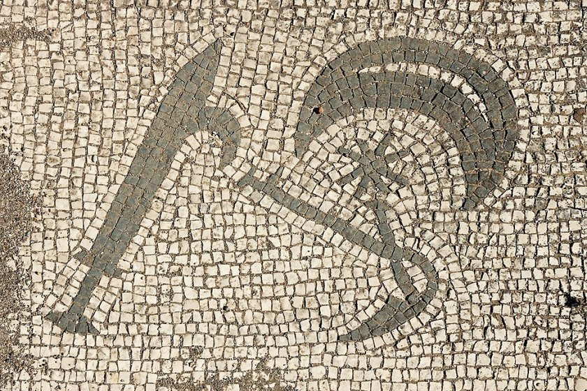 5th panel Mitreo di Felicissimus Ostia Antica 2006-09-08.jpg