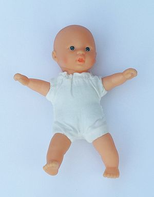 A small (14cm) baby doll called Calineczka. To...