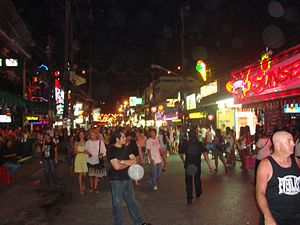 English: Patong, Bangla Road Русский: Patong, ...