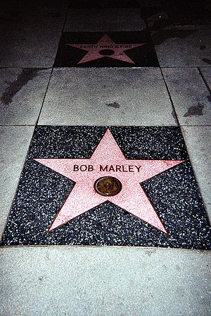 Marley's star on the Hollywood Walk of Fame