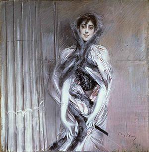 Pintura de Giovanni Boldini (Ferrara, 1842 - París, 1931), pintor italiano.