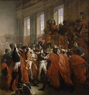 Napoleon Bonaparte in the coup d'état of 18 Br...