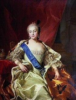 Carle Vanloo, Portrait de l'impératrice Élisabeth Petrovna (1760).jpg