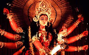 English: Statu of Deity Durga