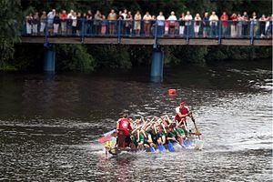 drago n boat racing in Friedrichstadt, Schlesw...