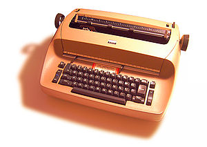 An IBM Selectric typewriter, model 713 (Select...
