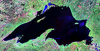 Lake Superior - Landsat image