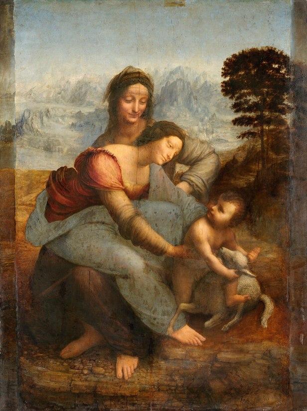 Leonardo da Vinci - Virgin and Child with St Anne C2RMF retouched