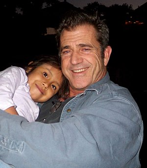 Mel Gibson holds Domenica, our foster child fr...