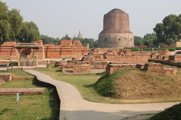 File Monastery Dhamek Stupa - Wikimedia Commons