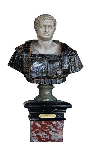 Gnaeus Pompeus Magnus, Marble bust, XVIIth cen...