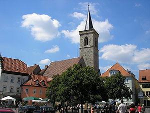 Roter Turm und Wenigemarkt in Erfurt