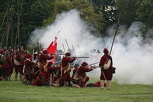 Scene from a historical re-enactment of the Ba...