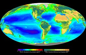 Composite image showing the global distributio...