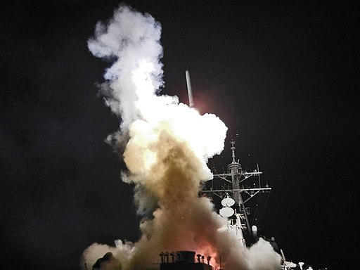USS Barry (DDG-52) launching a Tomahawk missile in support of Operation Odyssey Dawn