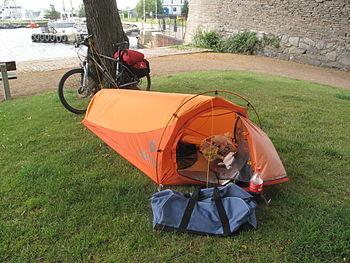 Svenska: Vildcamping i Varberg