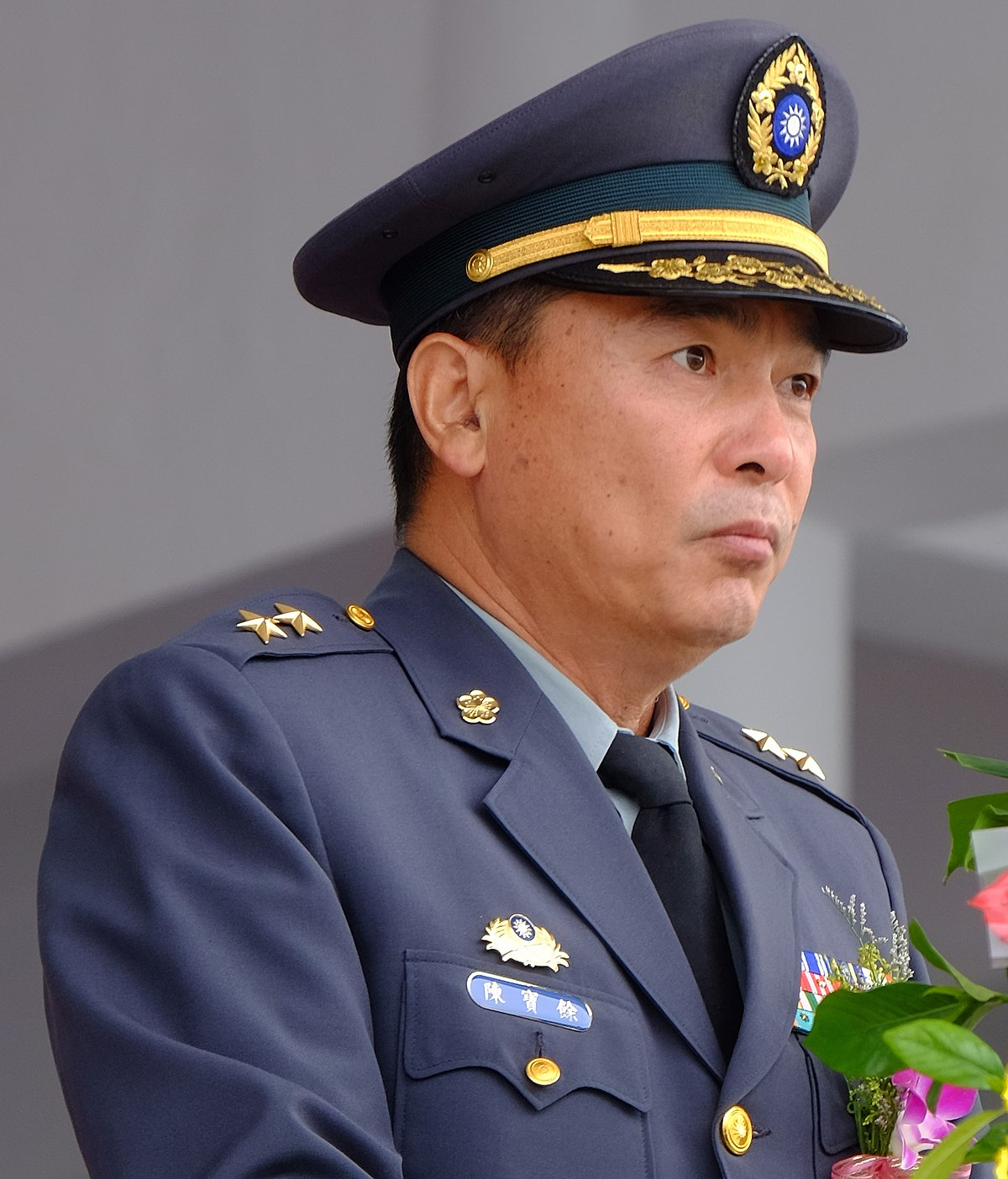 File:(陳寶餘中將) Lieutenant General Chen Pao-yu. ROCA 10th Army Group Command Speech in Open Ceremony of 2015 Chengkungling Open Day ...
