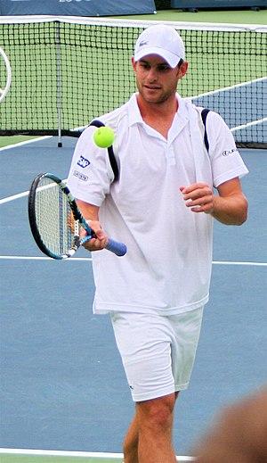 English: Andy Roddick at the Legg Mason tennis...